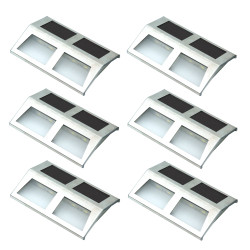 Stainless Steel Mounted Solar LED Light - Set of 6