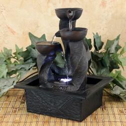 Asian fountain indoor wall
