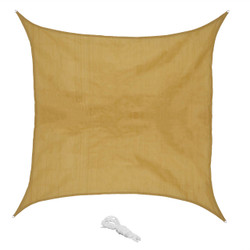 Sunnydaze Beige Square Sun Shade Sail for Patio, Lawn and Garden