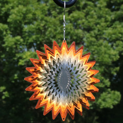 Sunnydaze Star Wind Spinner with Hook, 6-Inch, Color Options Available