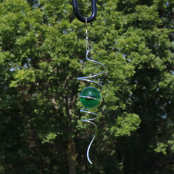 "Sunnydaze 11"" Cyclone Tail Wind Spinner with Hook, Color Options Available"