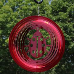 Reflective 3D Whirligig Ladybug Wind Spinner