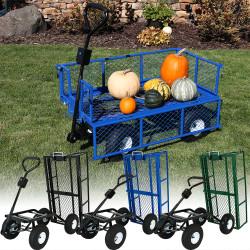 Sunnydaze Heavy-Duty Steel Dump Utility Garden Cart with Removable Sides, 660 Pound Capacity