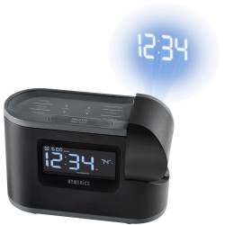 HoMedics SoundSpa Recharged Projection Alarm Clock with Temperature Sensor
