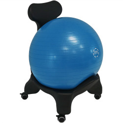 CASL Brands Yoga Ball Balance Chair with 52-Centimeter Stability Ball and Pump, for Home or Office