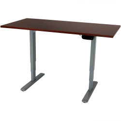 CASL Brands Sit-Stand Desk Frame with Wood Finish Top, Multiple Options Available