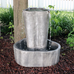 Sunnydaze 3 Stream Outdoor Water Fountain With Submersible Electric Pump,  26 Inch