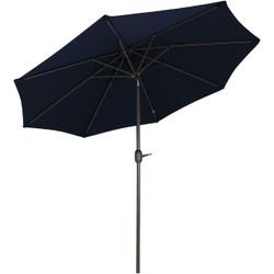 Sunnydaze 9-Foot Aluminum Sunbrella Market Umbrella with Auto Tilt and Crank
