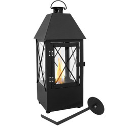 Sunnydaze Decorative Lantern Ventless Tabletop Bio Fuel Fireplace