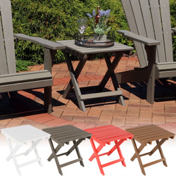 All-Weather Folding Patio Side Table