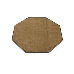 DeckProtect Octagon Fire Pit Pad with Black Rack
