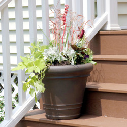 Crozier Indoor/Outdoor Rust Finish Planter