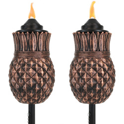 Sunnydaze Pineapple Outdoor Lawn Patio Torch, Set of 2