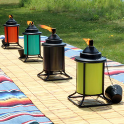 Sunnydaze Multi-Color Outdoor Tabletop Metal Torches, Set of 4
