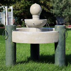 2-Tier Raised Cathedral Basin Outdoor Water Fountain