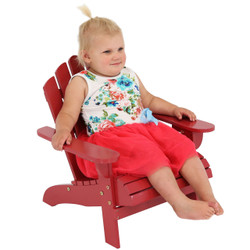 Sunnydaze Child-Size Classic Wooden Adirondack Chair with Non-Toxic Paint Finish