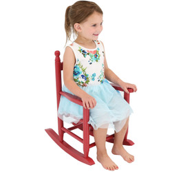 Sunnydaze Child-Size Modern Wooden Rocking Chair with Non-Toxic Paint Finish