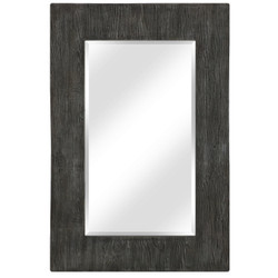 CASL Brands Large Rectangular Wall Mirror with Decorative Concrete/Resin Frame