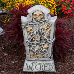 Sunnydaze No Rest for the Wicked Tombstone Graveyard Halloween Decoration, 24-Inch Tall