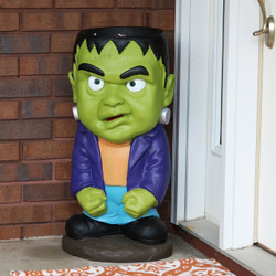 Frankenstein Halloween Large Statue with Built-In Candy Bowl, Outdoors