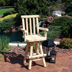 Sunnydaze Rustic Bar Stool, Log Cabin Style Unfinished Wood Construction, 4-Foot