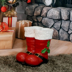 Sunnydaze Santa Boots Statue Indoor/Outdoor Christmas Decor, 13-Inch