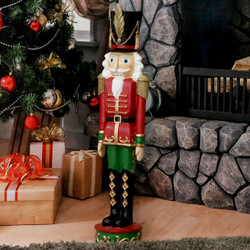 Sunnydaze Kristoff the Nutcracker Soldier Indoor/Outdoor Christmas Decor, Polyresin, 37-Inch