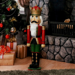 Sunnydaze Matthias the Nutcracker Prince Indoor/Outdoor Christmas Decor, Polyresin, 37-Inch