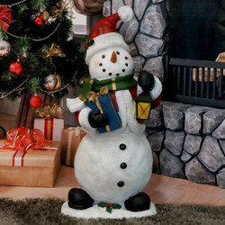 Holly Jolly Snowman Indoor/Outdoor Statue