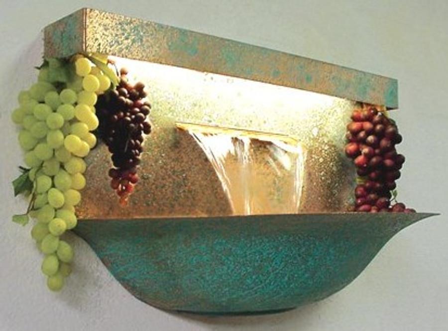 Grape Bowl Wall Fountain