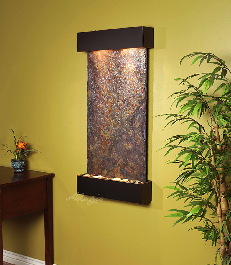 Blackened Copper with Rajah Slate