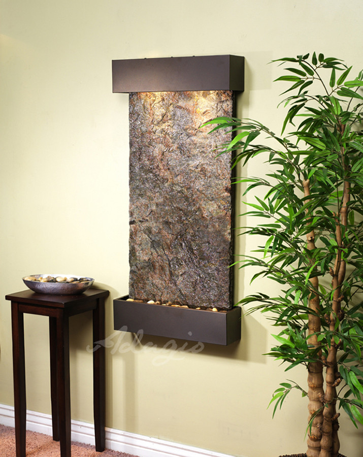 Antique Bronze with Green Slate