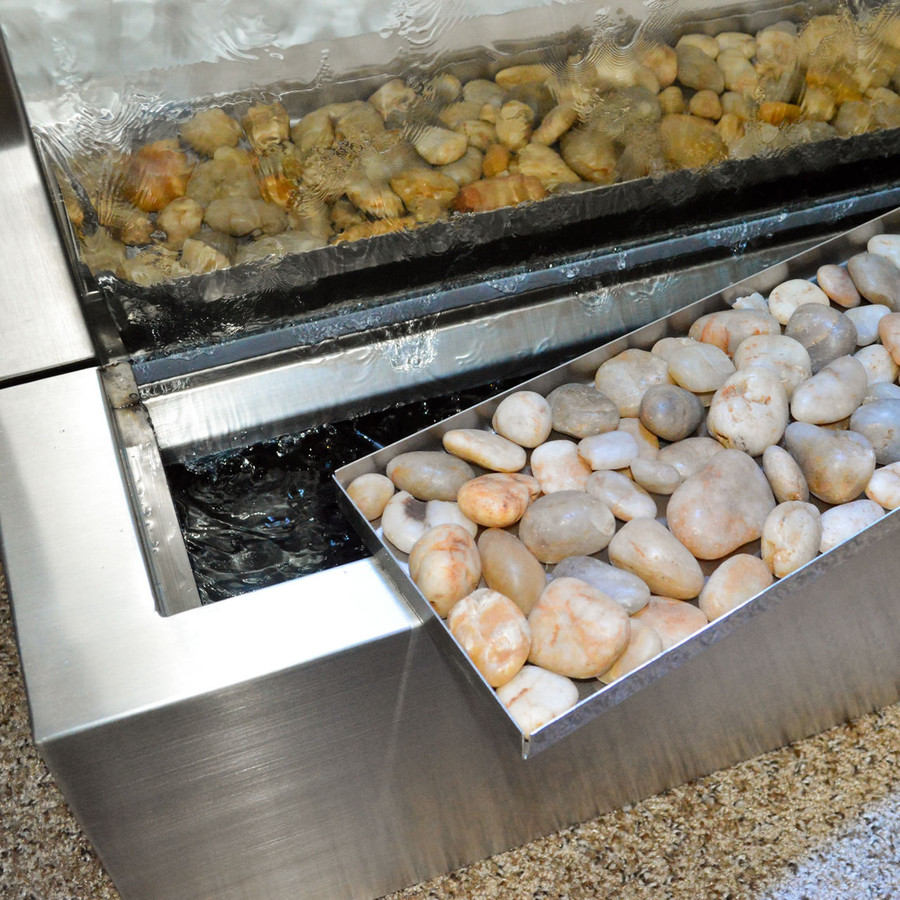 Stainless Steel Gardenfall With Clear Glass