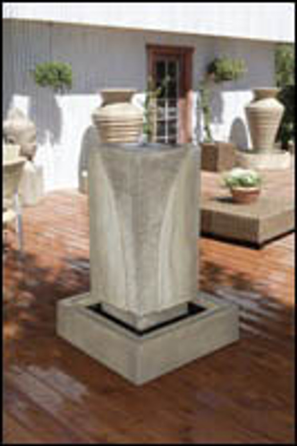Ribbed Monolith Outdoor Fountain