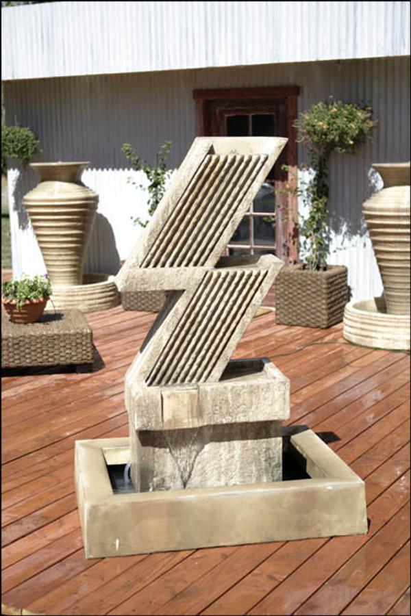 Zig Zag Outdoor Fountain