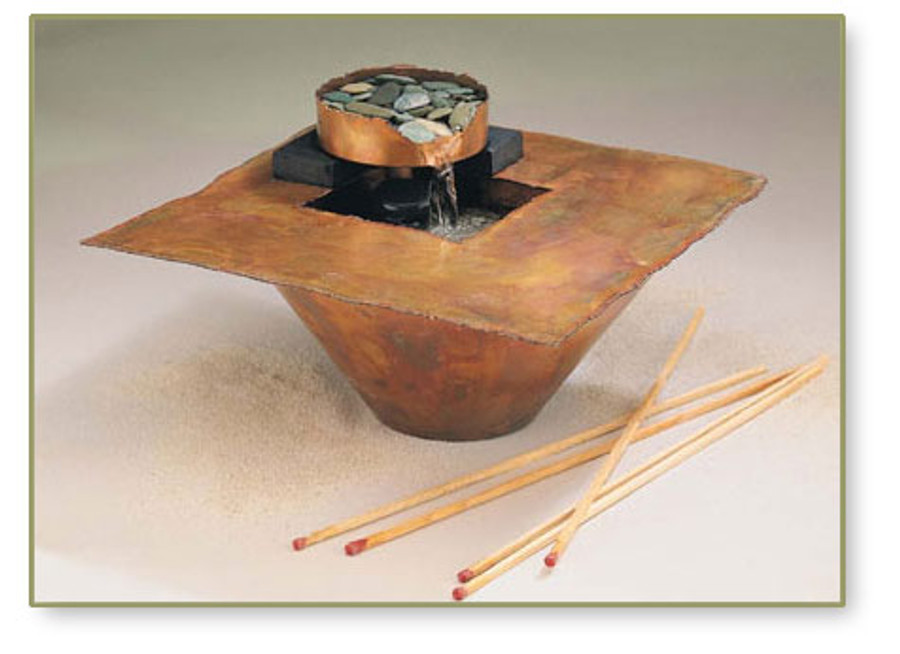 Water and Fire Tabletop Fountain #703