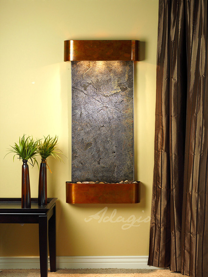Rustic Copper with Green Featherstone