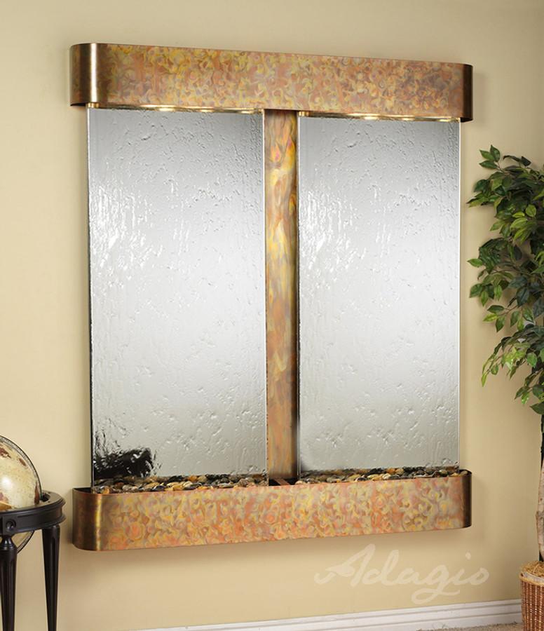 Rustic Copper with Silver Mirror