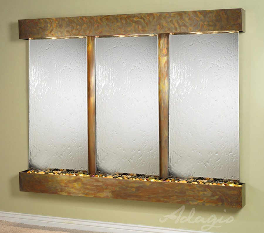 Rustic Copper with Silver Mirror
