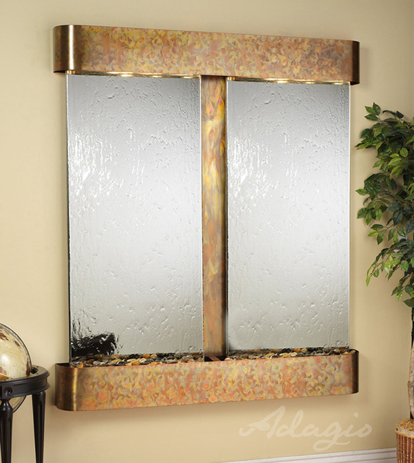 with Rustic Copper Frame Round Edges