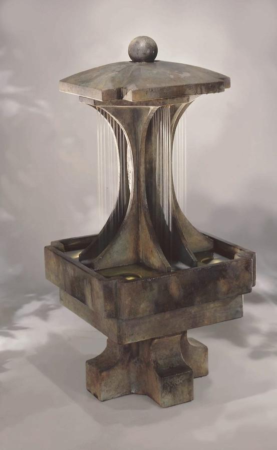 Contemporary Cast Stone LaCrosse Fountain by Henri Studio