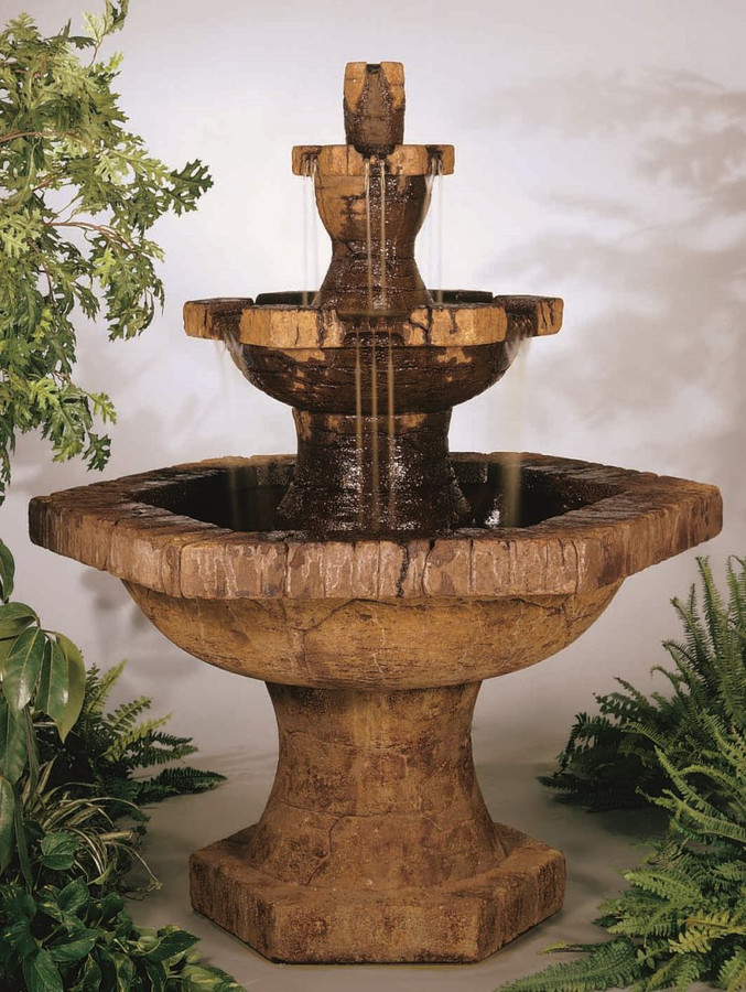 Grenoble Three-Tier Cast Stone Fountain by Henri Studio