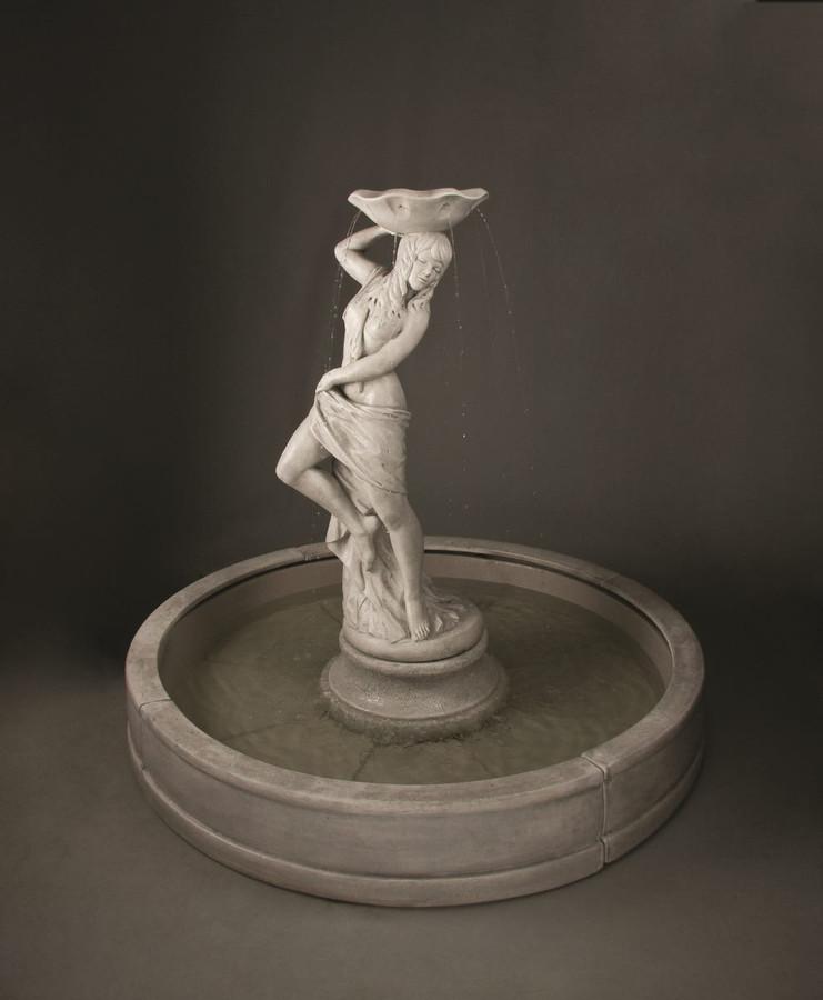 Cast Stone Lorelei in Valencia Fountain by Henri Studio