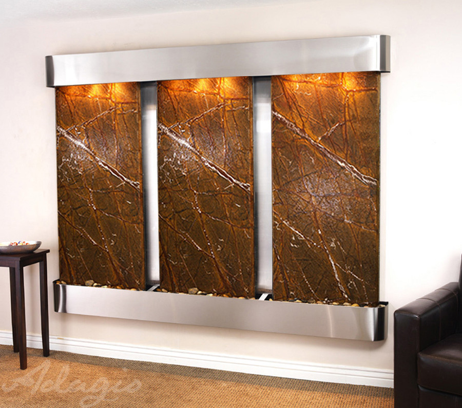 Stainless Steel with Brown Marble