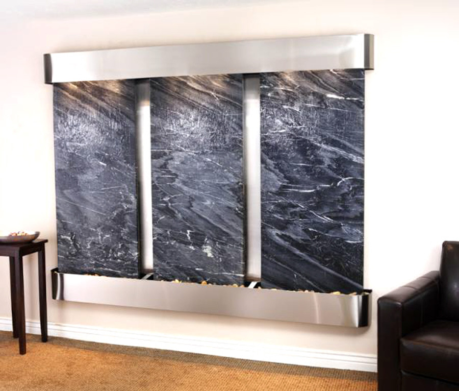 Stainless Steel with Black Marble