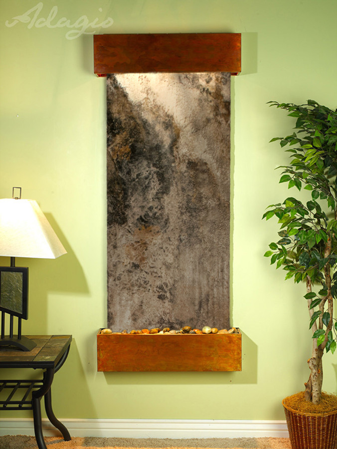 Rustic Copper with Travertine