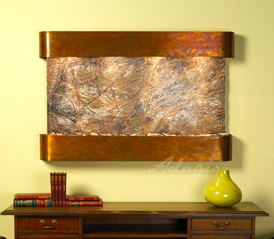 Rustic Copper with Brown Marble