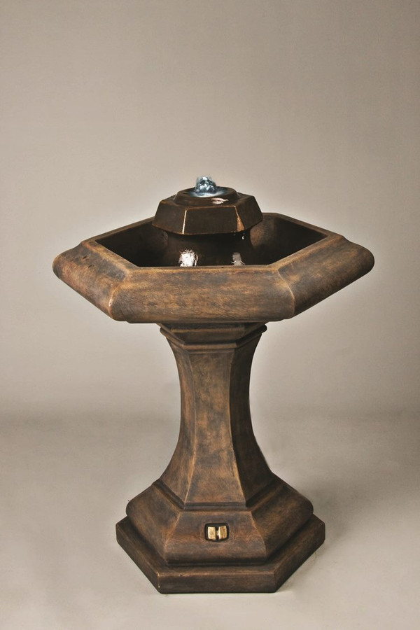 Classic Cast Stone Kensington Bubbler Fountain by Henri Studio