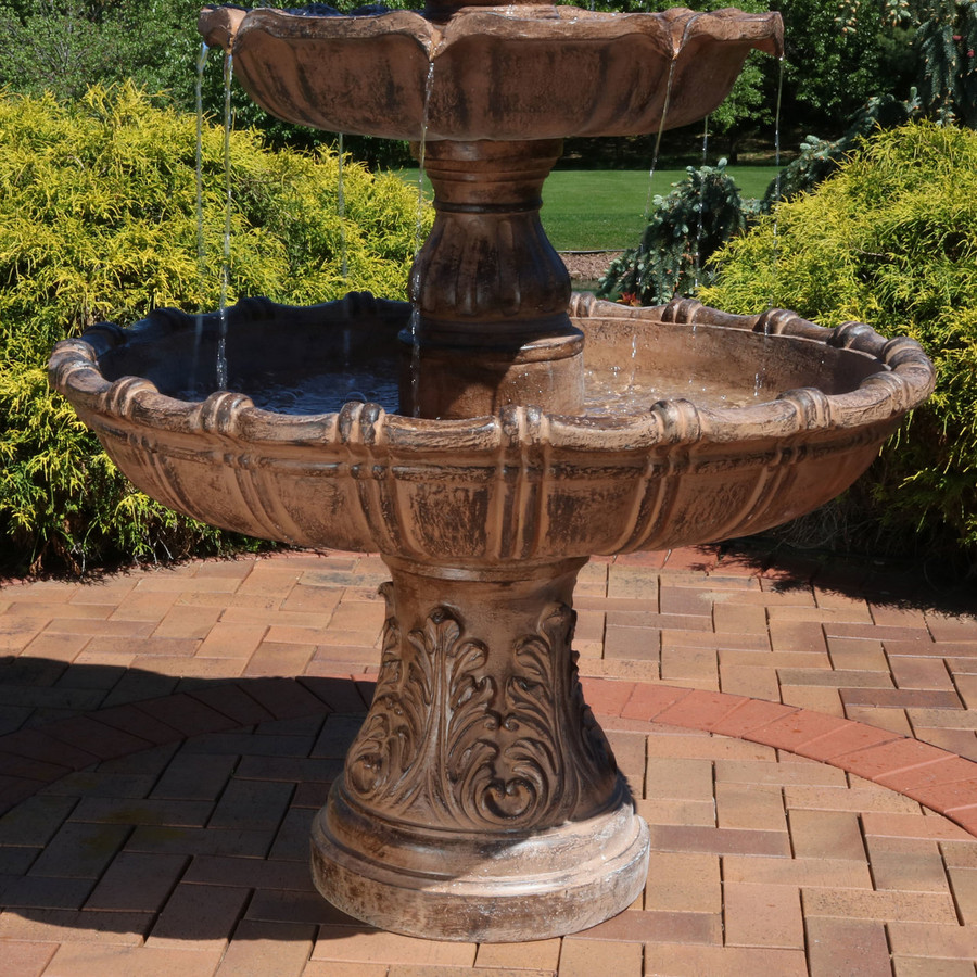 Sunnydaze Large Tiered Ball Outdoor Fountain