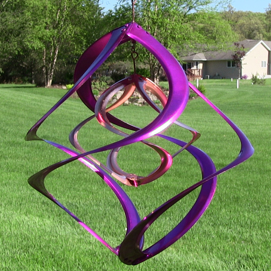 """Colored 14"""" Double Wind Spinner"""